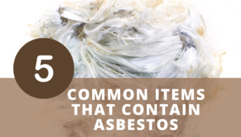 5 Common Items That Contain Asbestos infographic