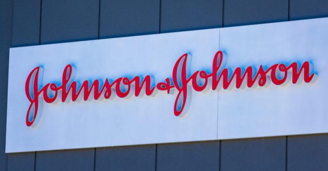 Johnson & Johnson sign with logo